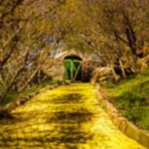 Land of Oz Amusement Park - Brick Walkway