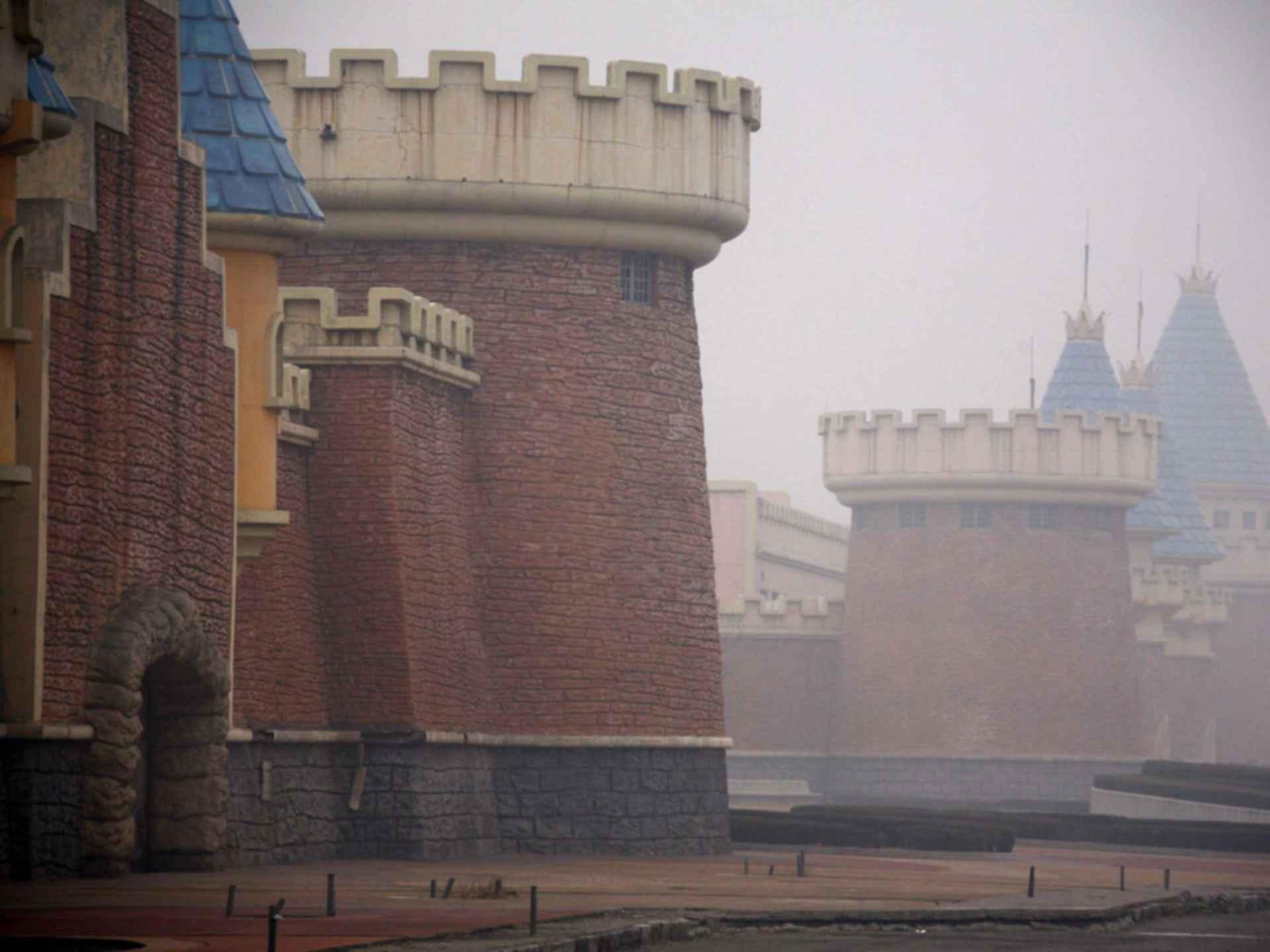 Wonderland Amusement Park - Brick Buildings