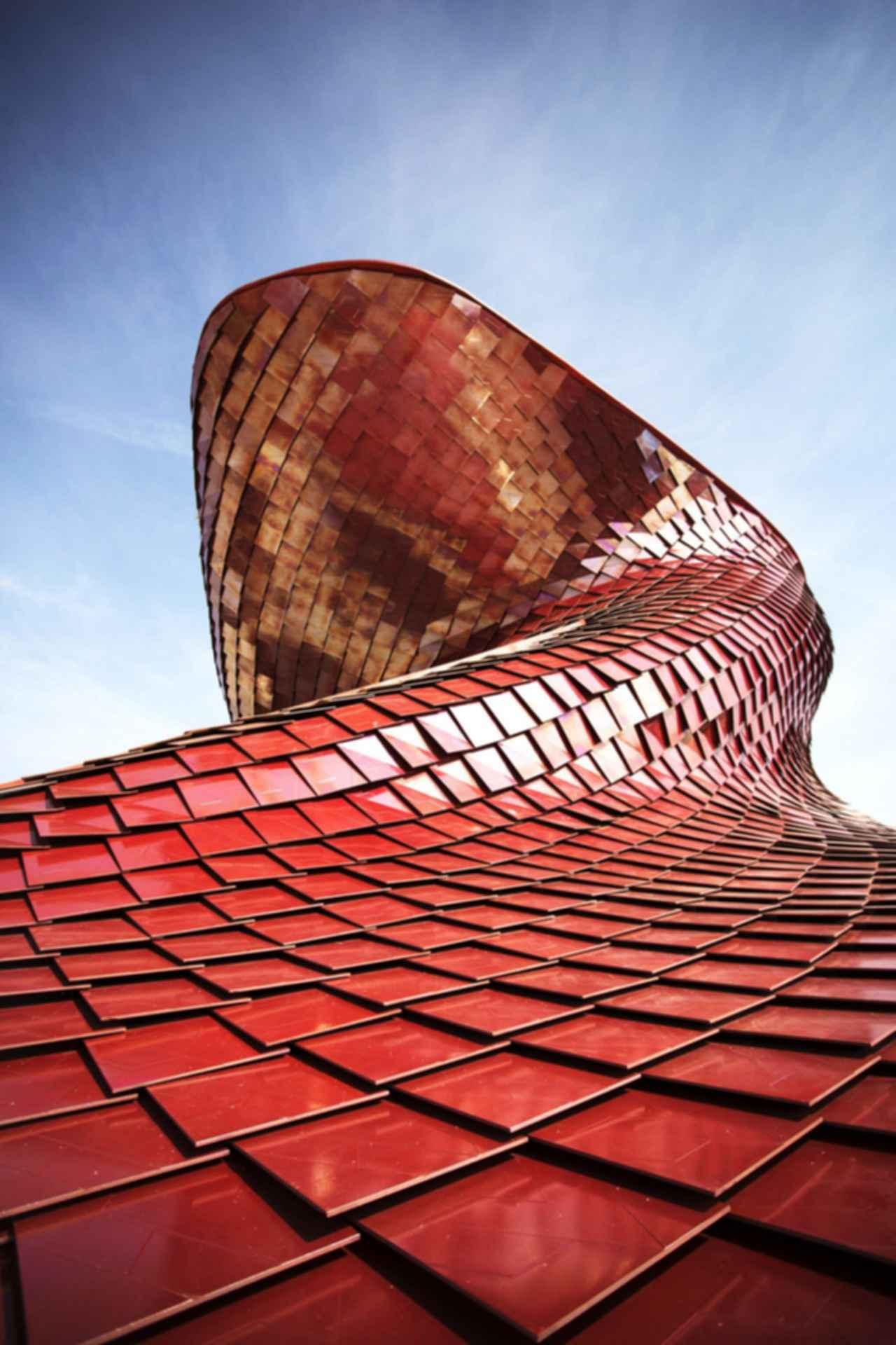 Vanke Pavilion - Exterior Metal Tiles