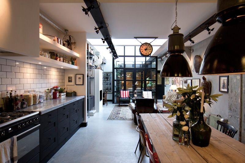 Garage Loft In Amsterdam Interior Kitchen Modlar Com