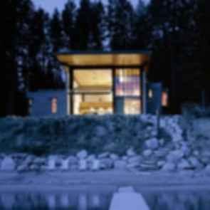 Chicken Point Cabin - Exterior at Night
