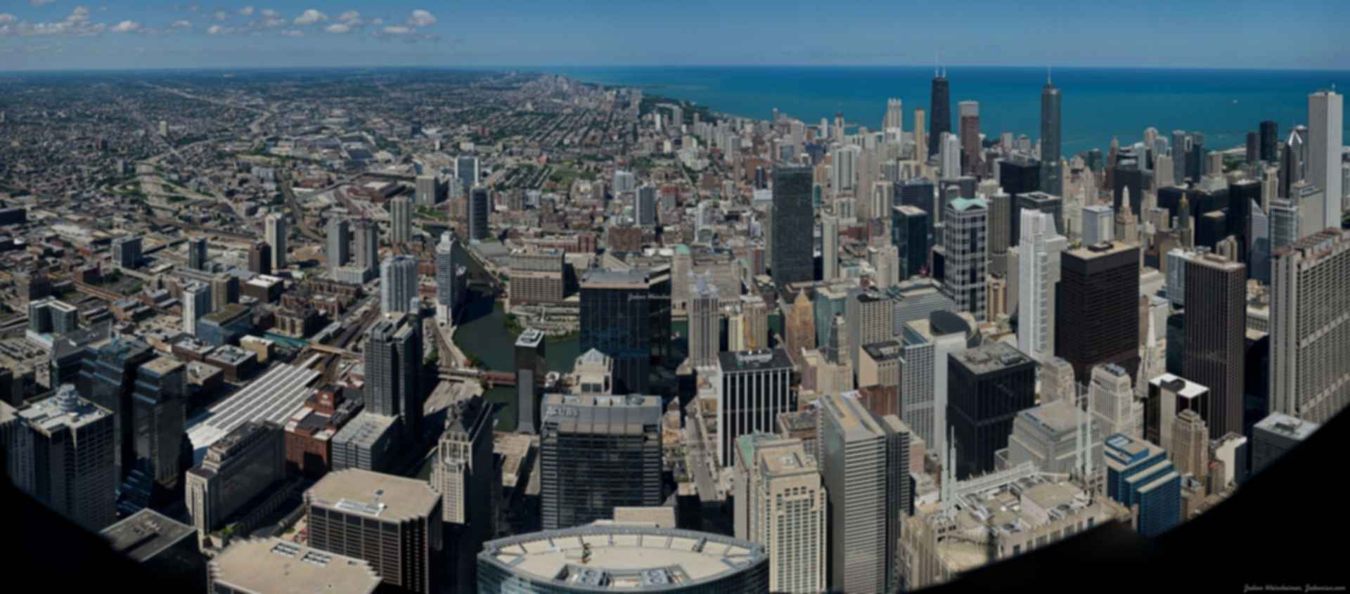Willis Tower - Panoramic view from building