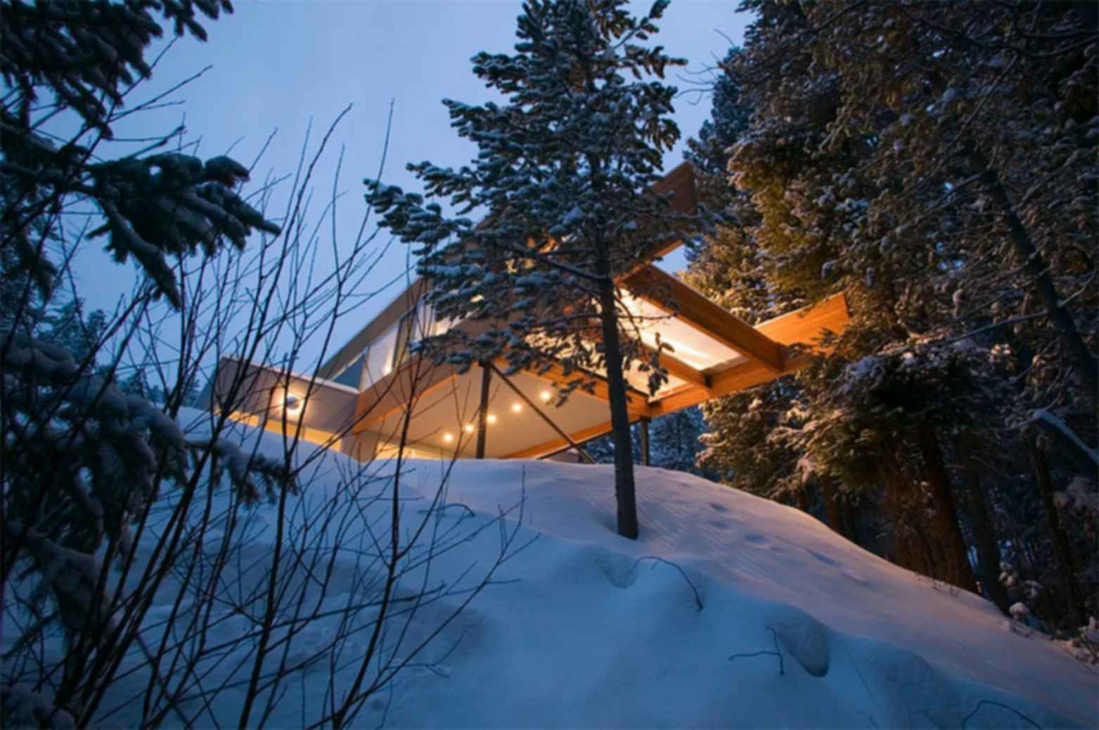 The Hiller Residence - Exterior at Night