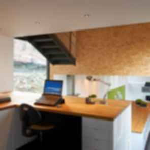 Low Energy Bamboo House - Interior/Study