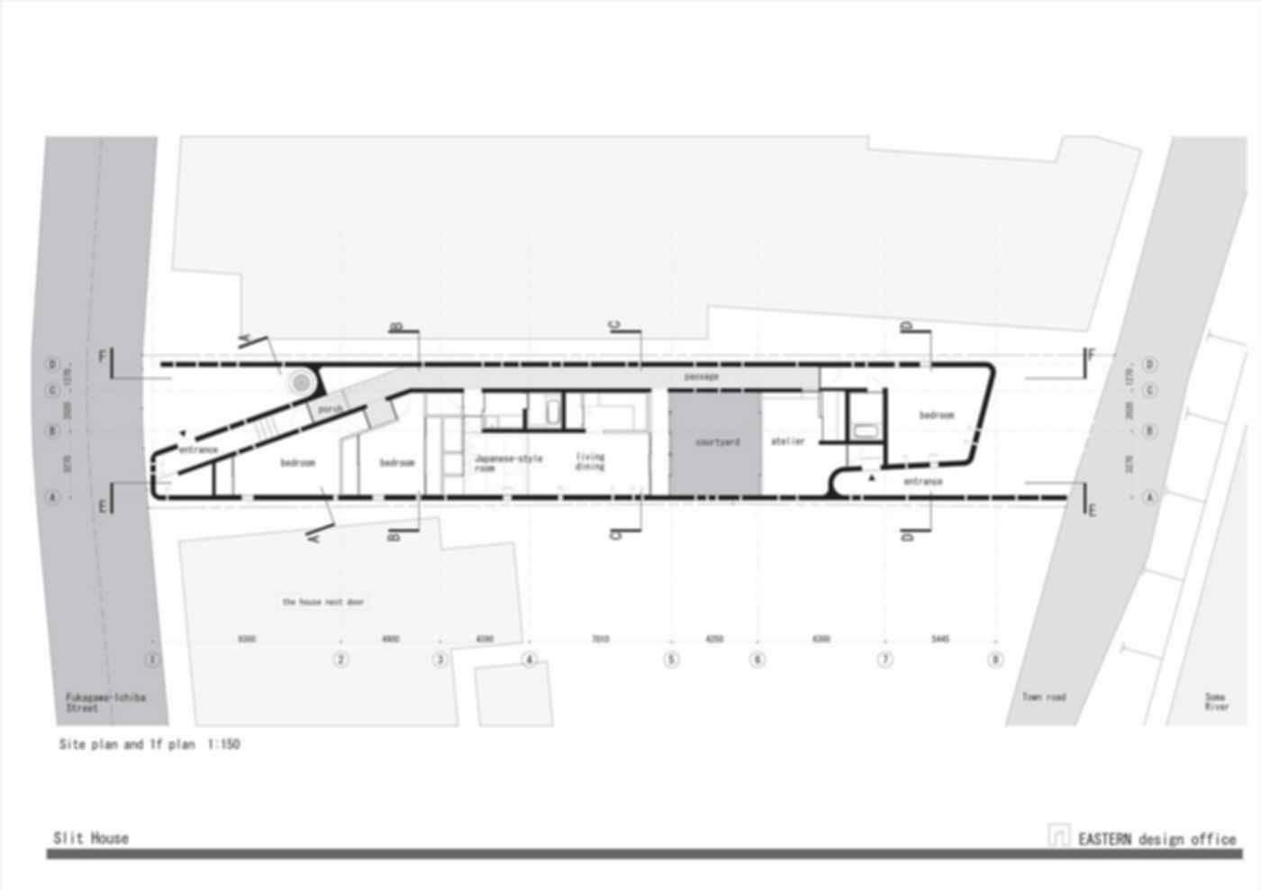 Slit House - Site plan