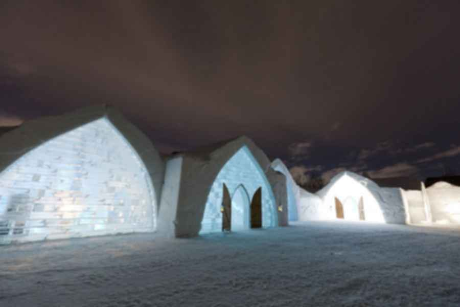 Hotel De Glace - Exterior at Night