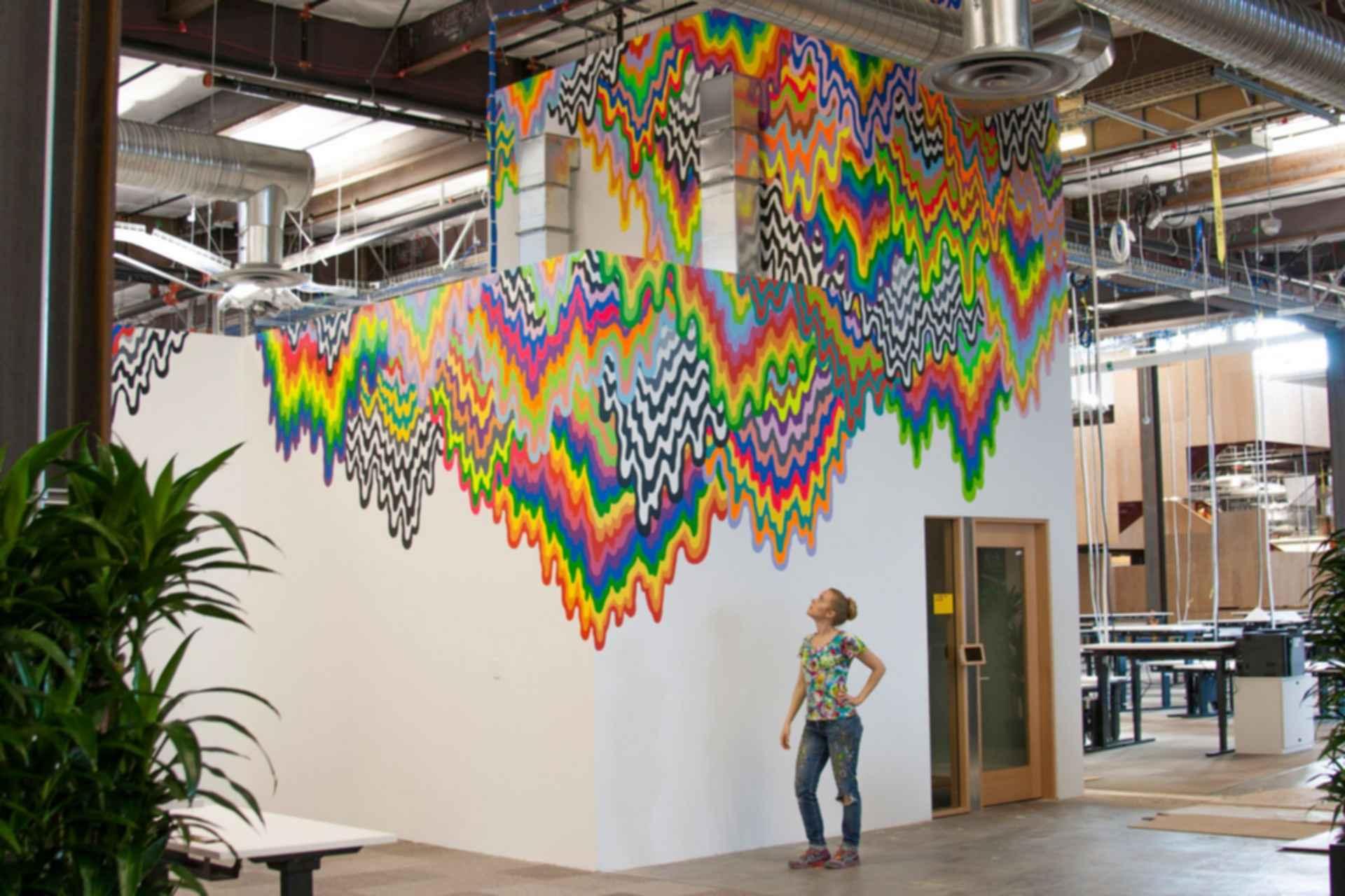 Facebook Headquarters Interior - Art Wall