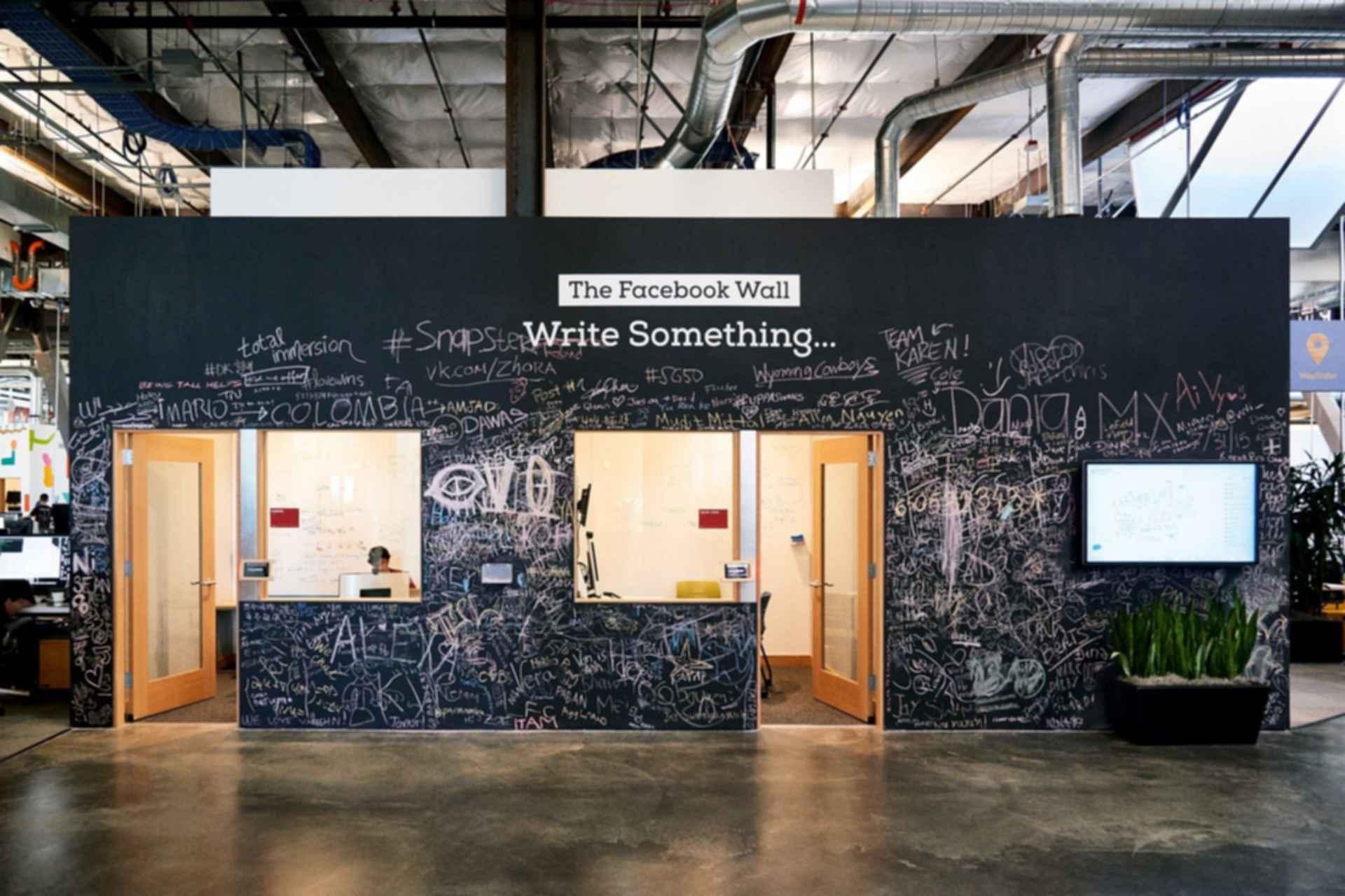 Facebook Headquarters Interior - 'The Facebook Wall'