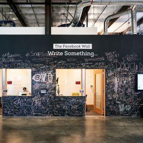 Facebook Headquarter's Interior - 'The Facebook Wall'