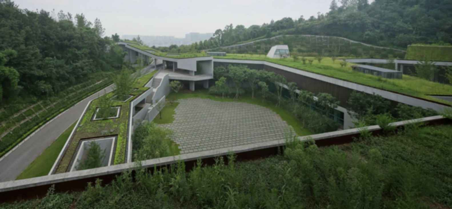 Chongqing Taoyuanju Community Center - Grass Rooftop