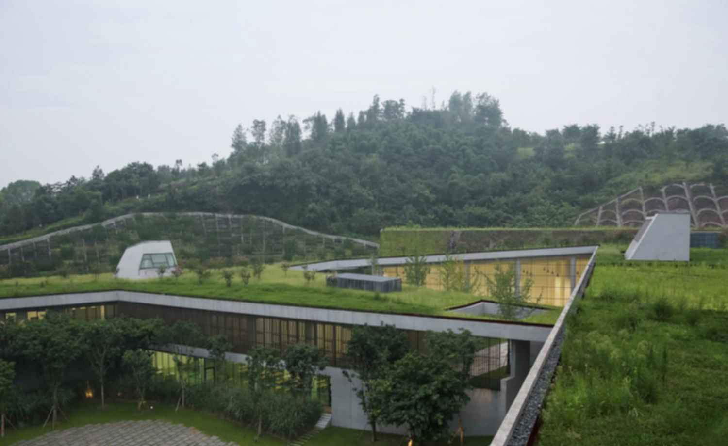 Chongqing Taoyuanju Community Center - Grass Rooftop