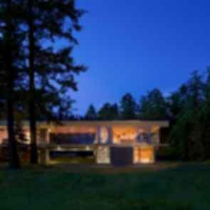 Gulf Islands Residence - Exterior at Night