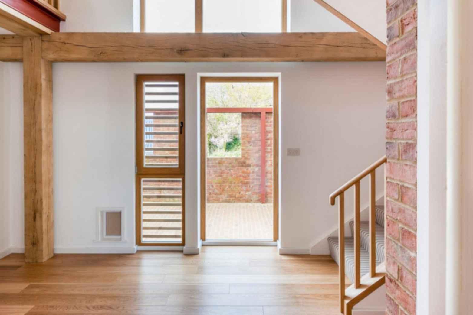 Timber Frame House - Interior