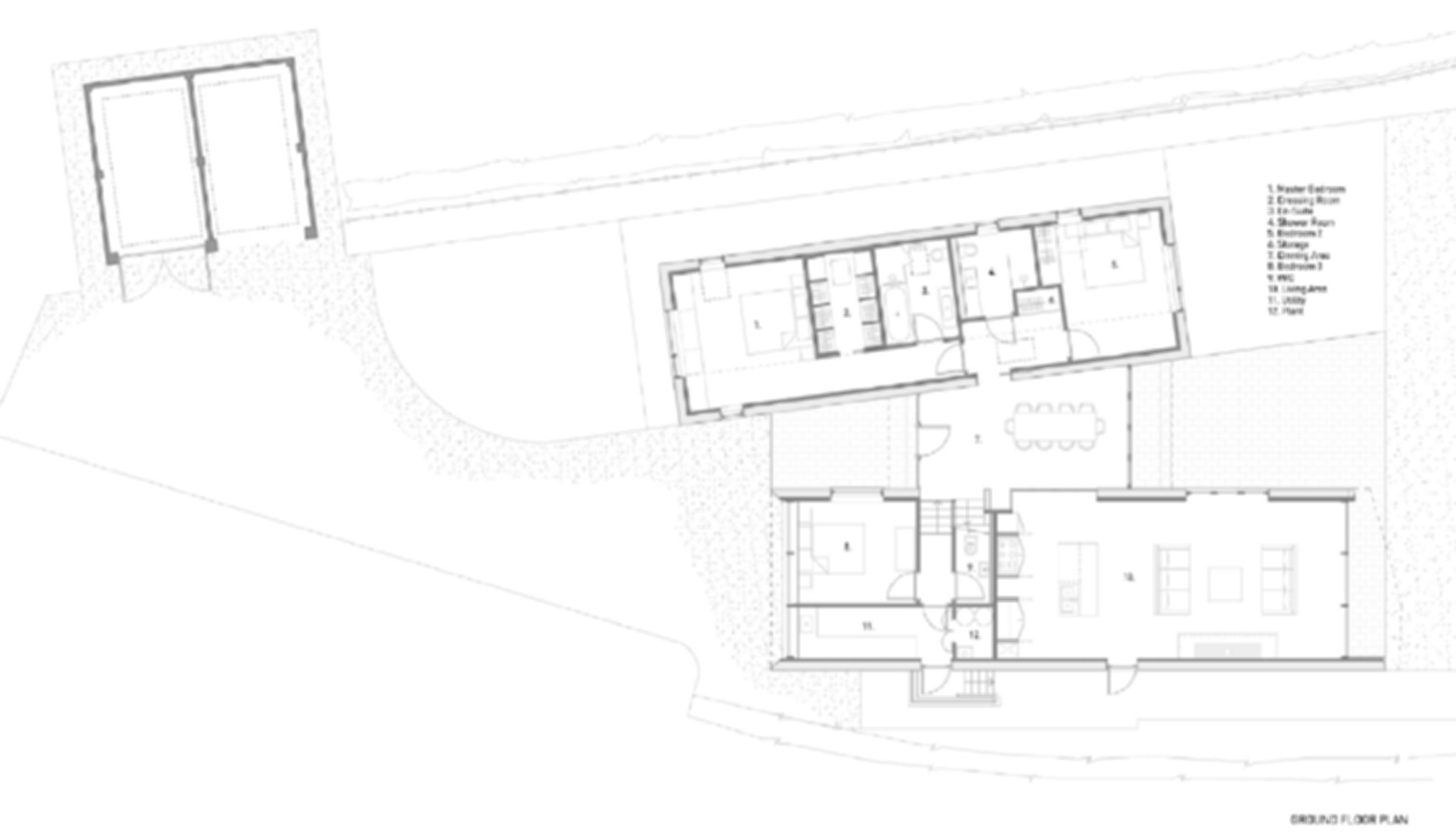 Bourne Lane House - Floor Plan