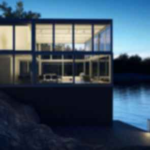 Williams Studio - Exterior at Night/Landscape