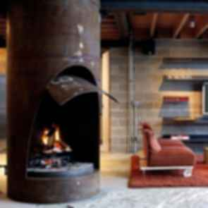 Chicken Point Cabin - Interior/Fireplace