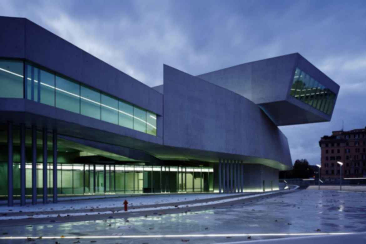 MAXXI Museum - Exterior at Night