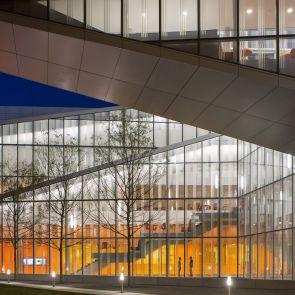 Krishna P. Singh Center for Nanotechnology - Exterior at Night