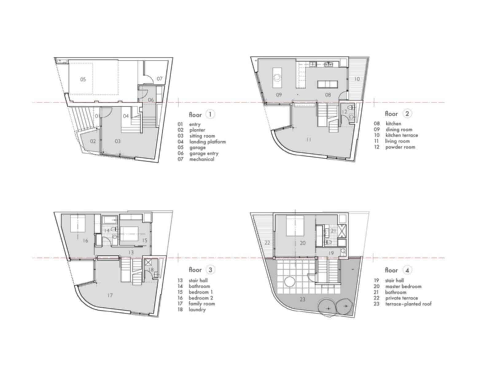 Split Level House - Floor Plan