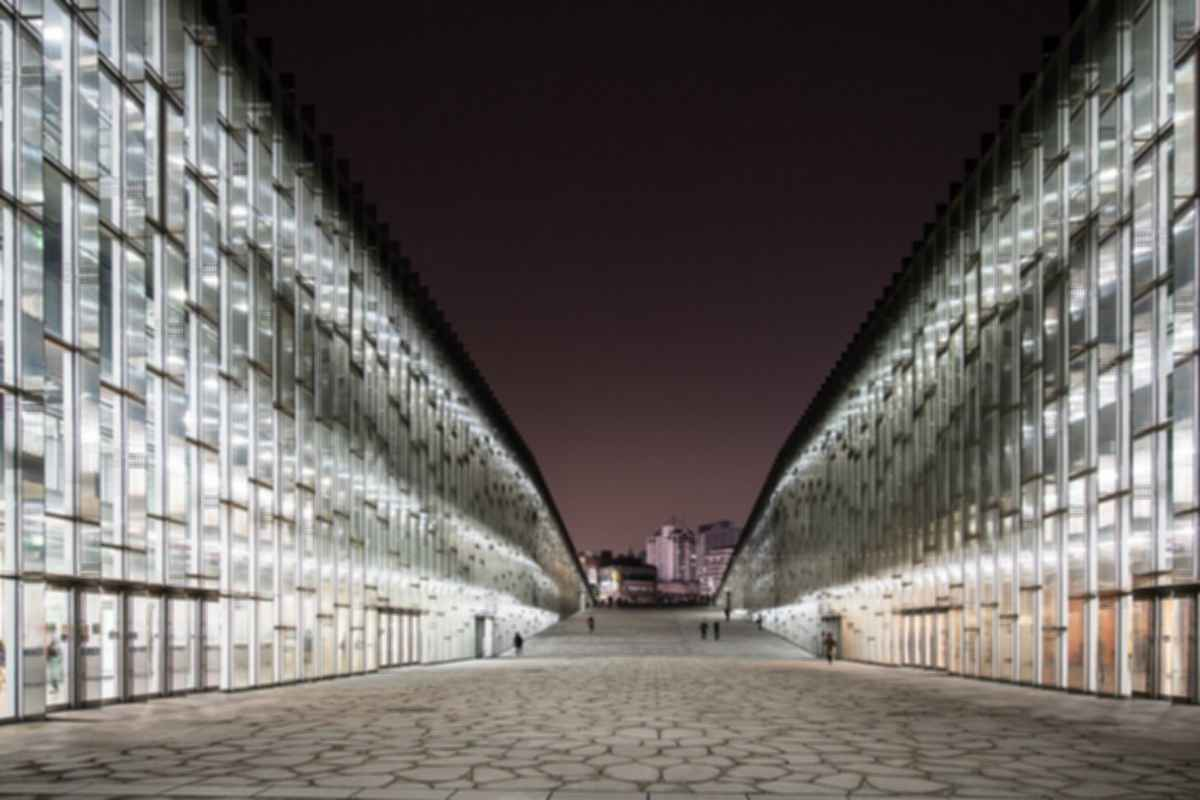 Ewha Womans University - Exterior at Night/Entrance