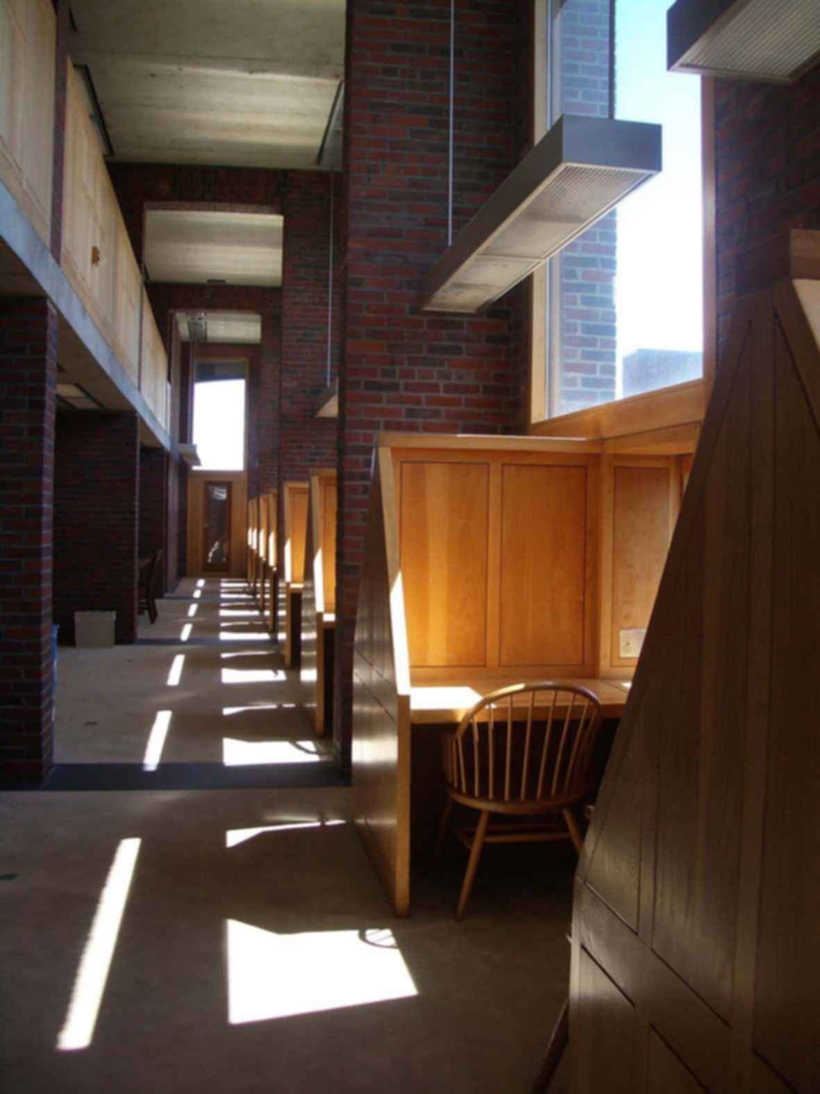 Phillips Exeter Academy Library - Interior/Desks