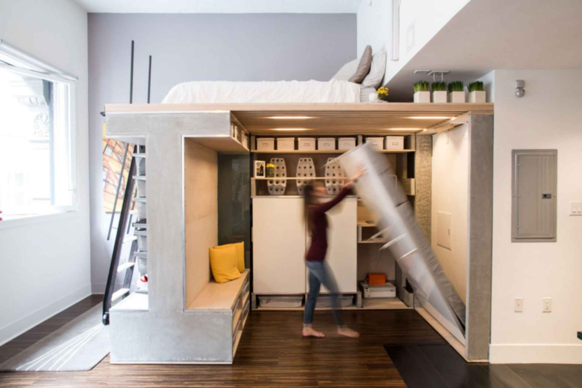 Domino Loft - Interior/Bed/Storage
