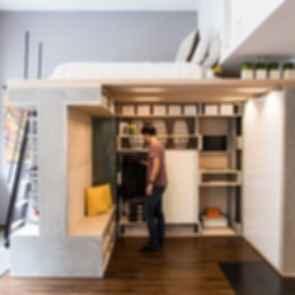 Domino Loft - Interior/Bed/Storage