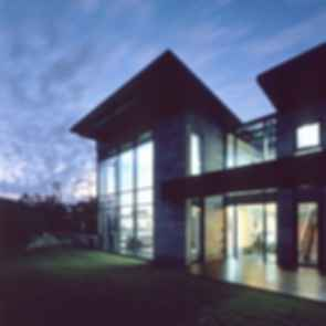 P House - Exterior at Night