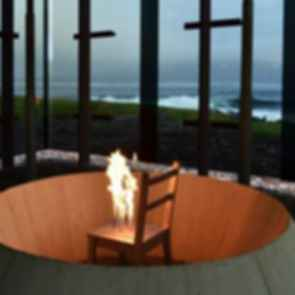 Steilneset Memorial - Burning Steel Chair