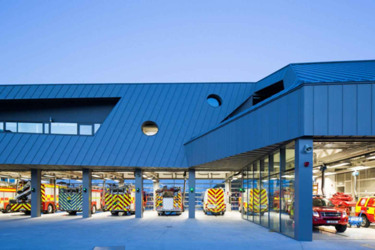 Waterford Fire Station - Exterior/Fire Truck Parking