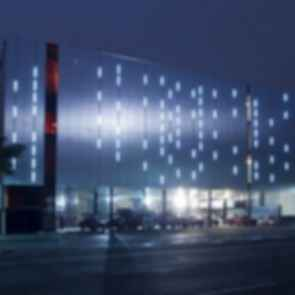 """Ave Fenix"" Fire Station - Exterior at Night"
