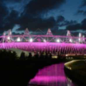 London Olympic Stadium - Exterior at Night