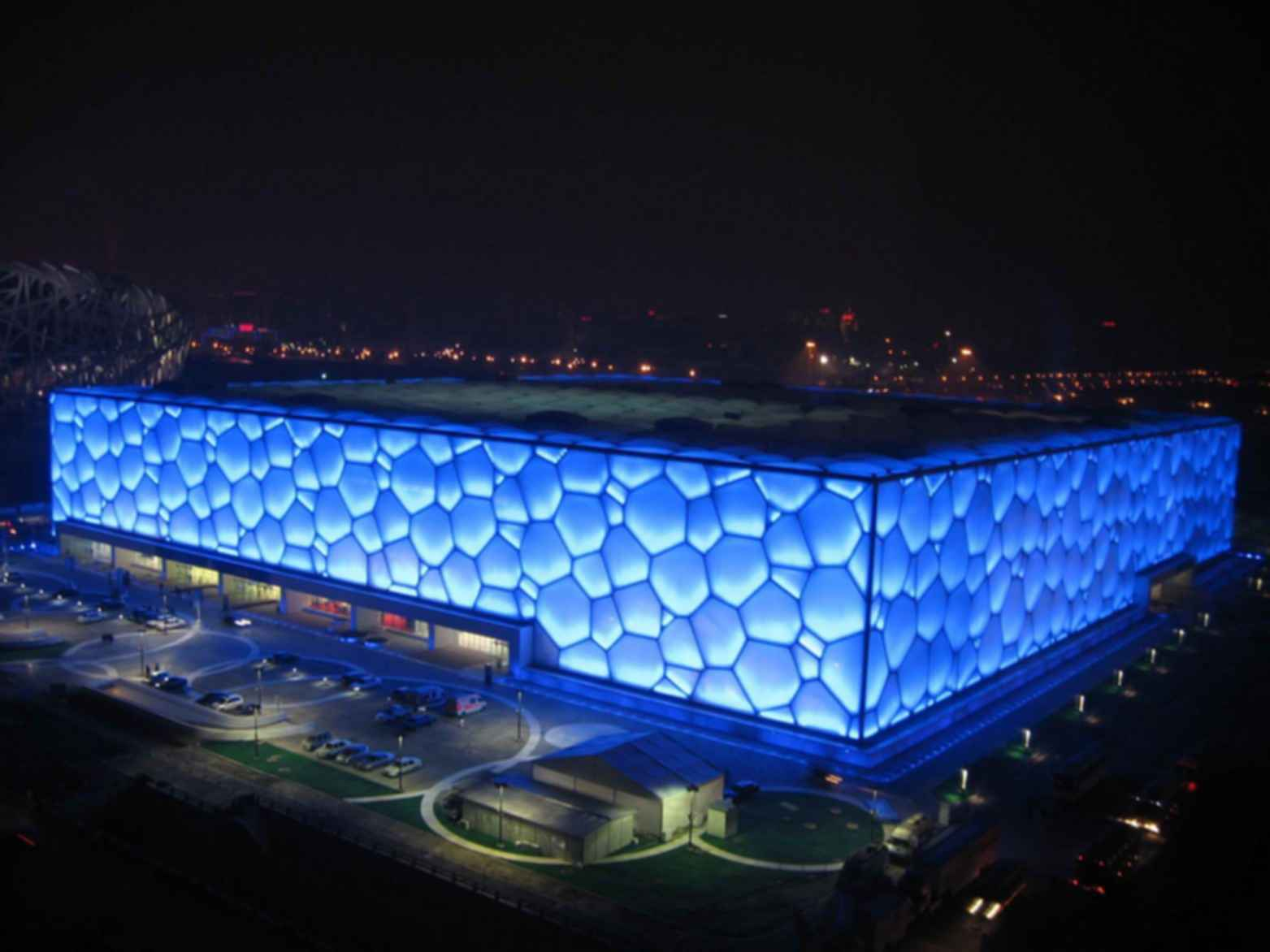 Watercube - Exterior at Night