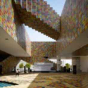 The Korean Pavilion at Shanghai World Expo 2010 - Interior/Courtyard