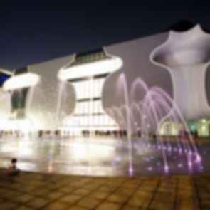 Taichung Metropolitan Opera House - Exterior at Night