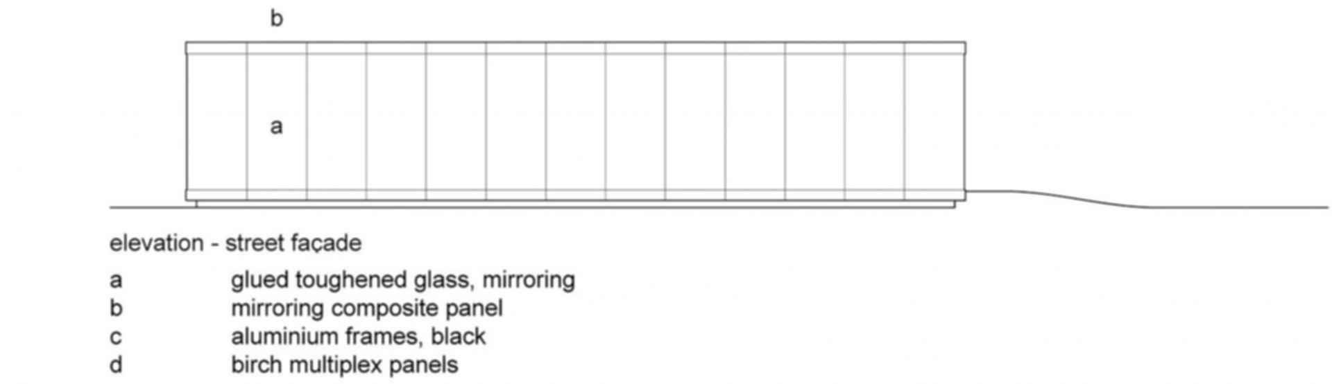 Mirror House, Almere - Concept Design/Elevation