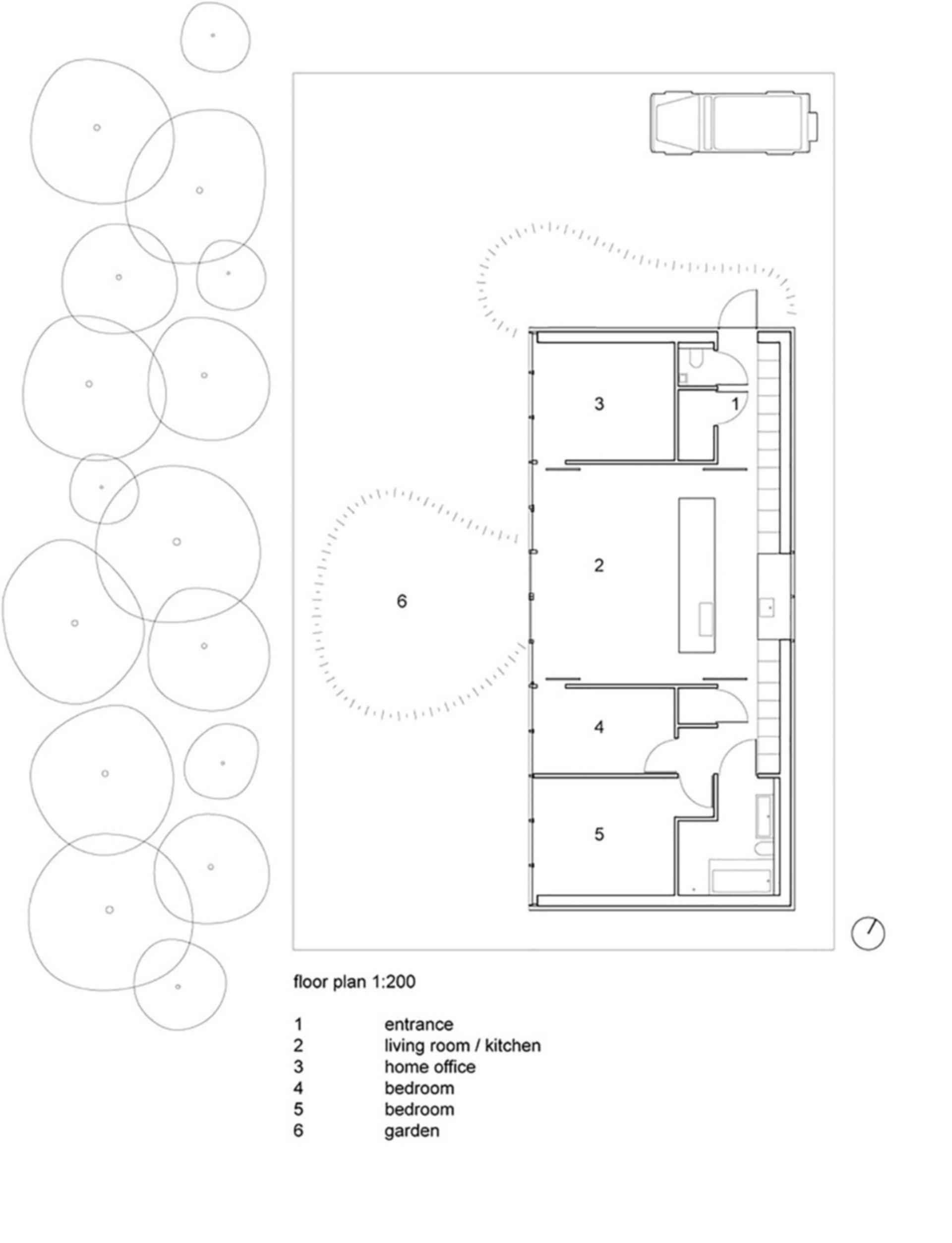Mirror House, Almere - Concept Design/Floor Plan