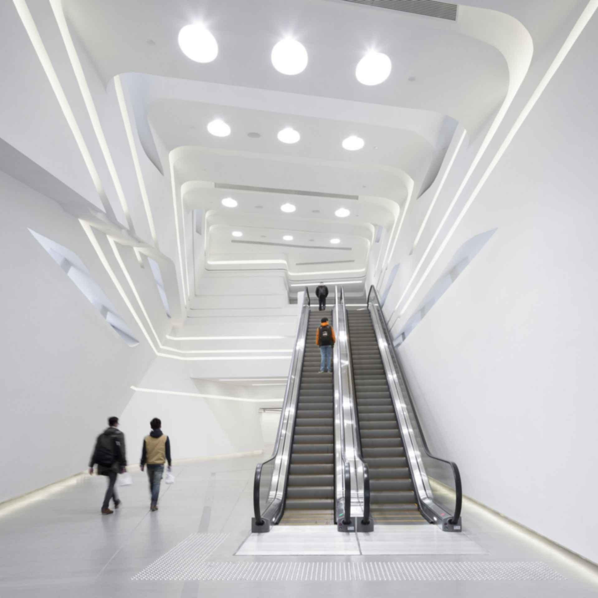 Jockey Club Innovation Tower (JCIT) - Interior/Escalator