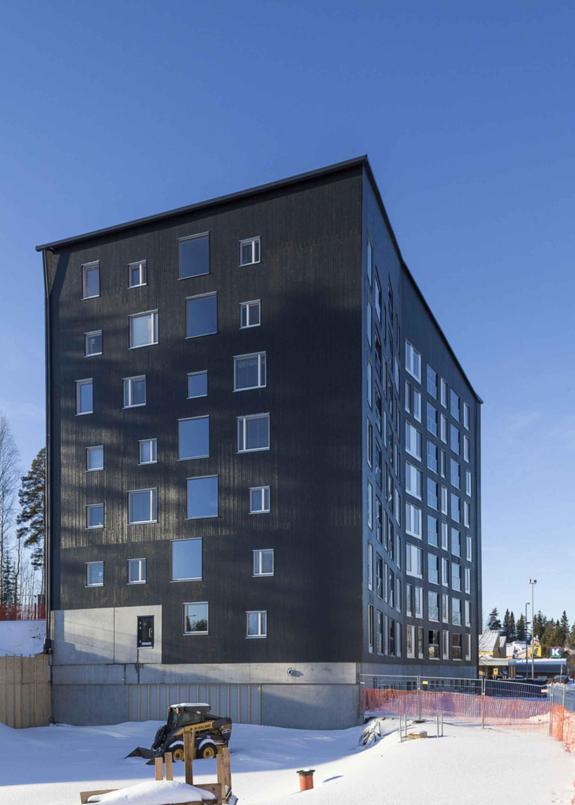 Puukuokka Housing Block - Exterior/Construction
