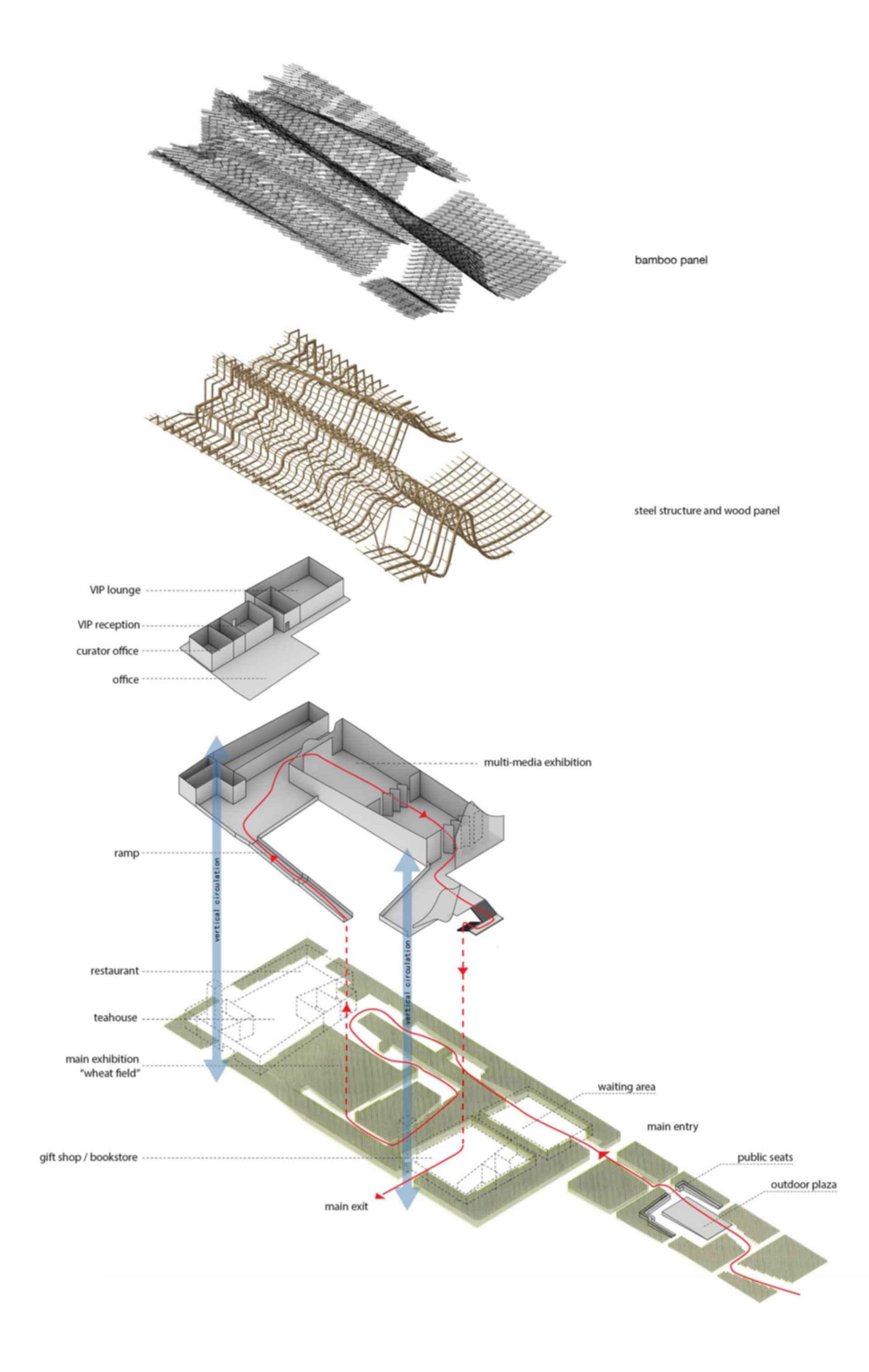 China Pavilion at Milan Expo 2015 - Bamboo Design