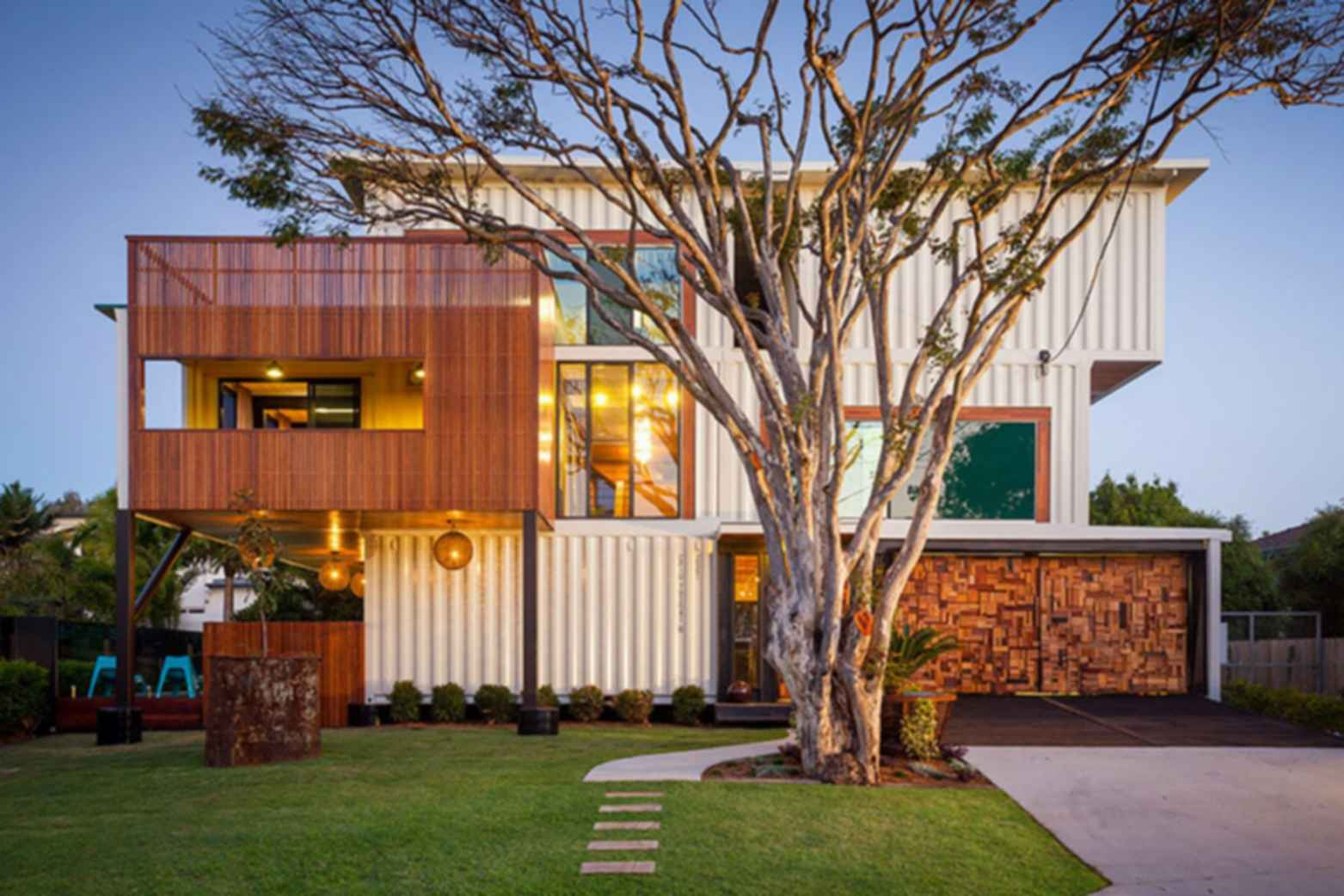 31 Shipping Container Home - Exterior