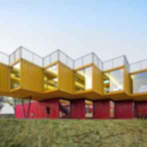 Container Stack Pavilion - Exterior