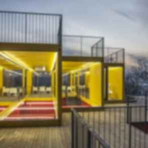 Container Stack Pavilion - Exterior/Decking