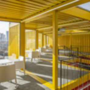 Container Stack Pavilion - Interior