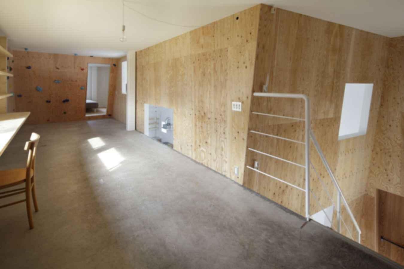 A Home for Climbers - Interior/Climbing Wall