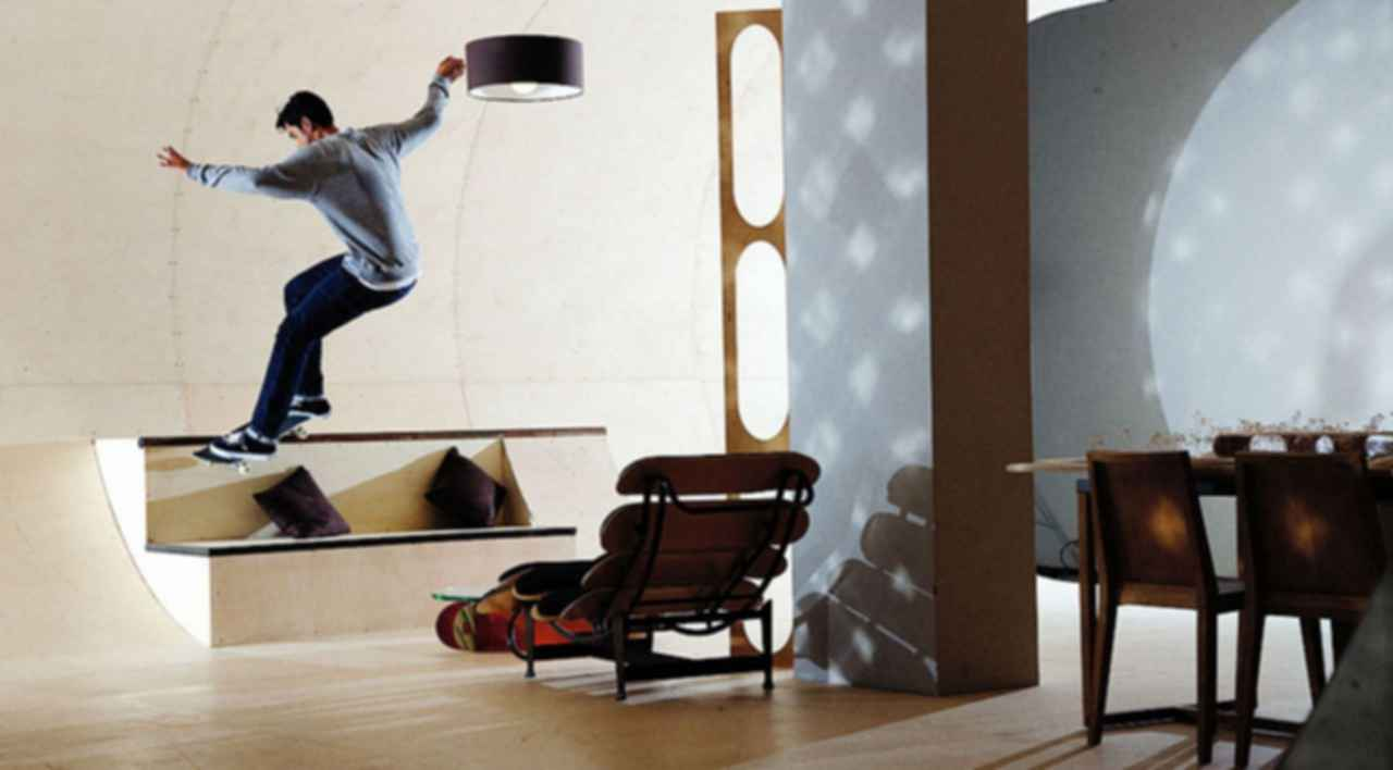 A House for a Skateboarder - Interior/Lounge