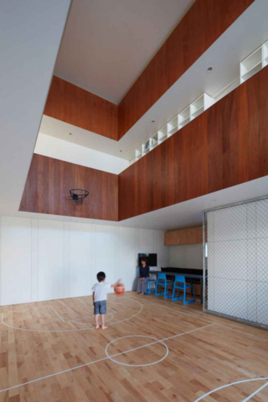 Indoor Basketball Court - Interior/Basketball Court