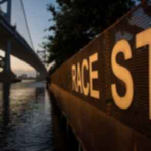 Race Street Pier - Race St Sign