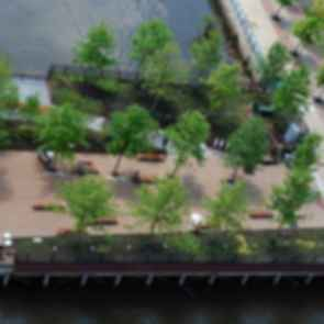 Race Street Pier - Bird's Eye View