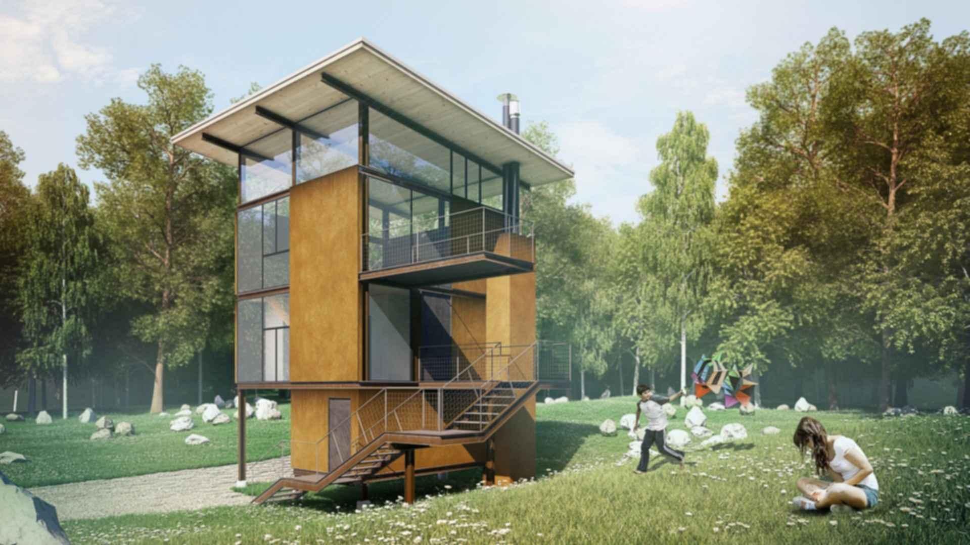 Delta Shelter A Transforming Cabin Exterior Modlar Com